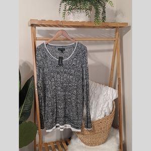 NWT lightweight bell cuff sweater